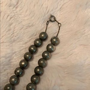 Silver Bead Necklace Tarnished